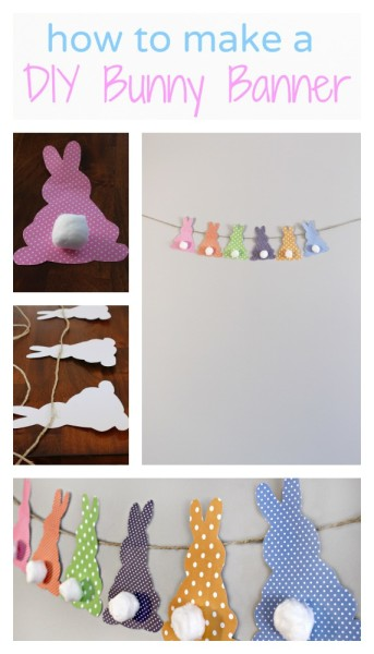How to make a cute and esy DIY Bunny Banner - jenny at dapperhouse
