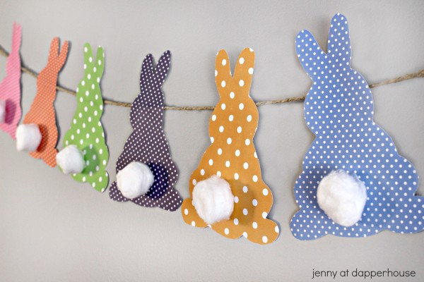 How to make a simple bunny banner for home decorating and party - jenny at dapperhouse