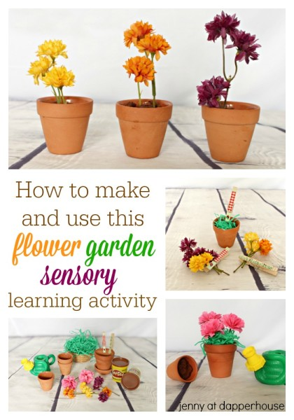 How to make and use this flower garden sensory learning activity - from jenny at dapperhouse