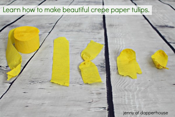 Learn how to make beautiful crepe paper tulips from jenny at dapperhouse