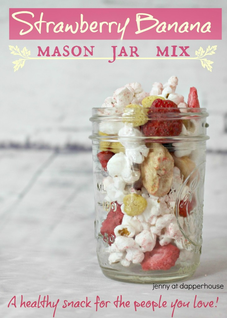 Mason Jar Mix healthy snack from jenny at dapperhouse