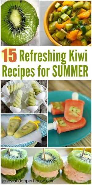 15 refreshing kiwi recipes for summer - jenny at dapperhouse
