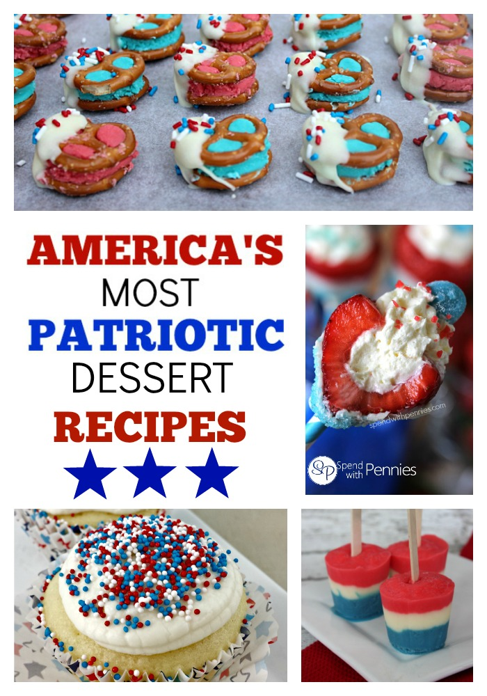 America's Most Patriotic Dessert Recipes EVER - from jenny at dapperhouse #MemorialDay #IndependenceDay #4thofJuly #military