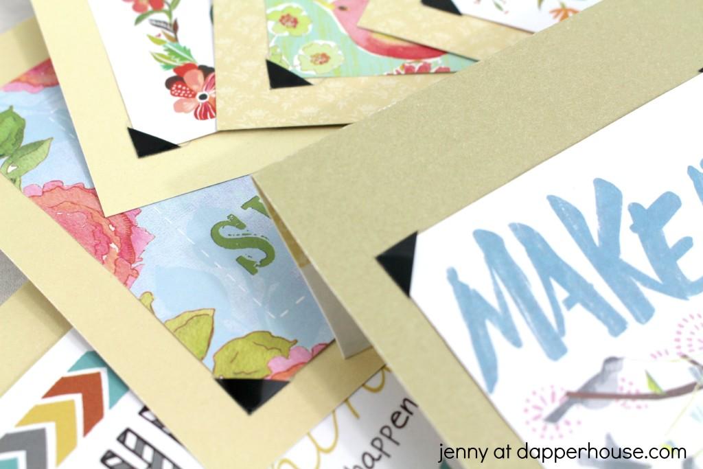 DIY tutorial for inspirational banner jenny at dapperhouse