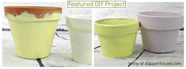 How to Rivive your old terra cotta pots into glamorous planters DIY - jenny at dapperhouse