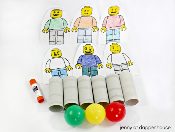 How to make your own kids game with free printable lego minifig characters from jenny at dapperhouse