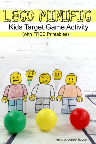 LEGO Minifig Kids Target Game Activity from jenny at dapperhouse #DIY