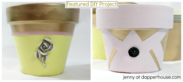 Make these GLAM terra cotta upcycled post Easy DIY from jenny at dapperhouse