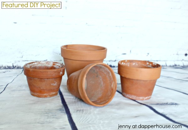 Take Terra Cotta Pots from Garbage to Glam with this DIY Project from jenny at dapperhouse