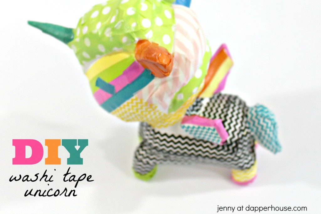DIY washi tape unicorn craft for kids - jenny at dapperhouse