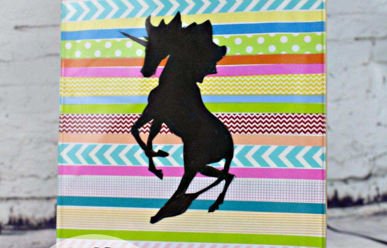 How to Make this DIY Unicorn Silhouette Washi Tape Art