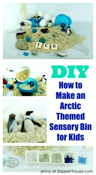 How to Make an Arctic Themed Sensory Bin for Kids to Learn Through Play - DIY - jenny at dapperhouse