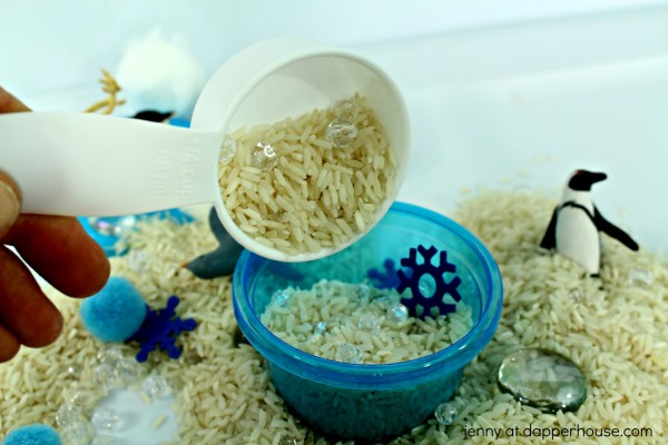 How to make an Arctic Sensory Bin for Kids - jenny at dapperhouse - #montessori #autism #gifted #DIY