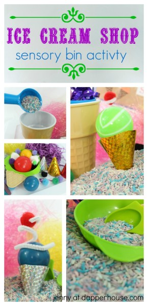 Ice Cream Shop Sensory Bin Learning & Play  Activity - jenny at dapperhouse