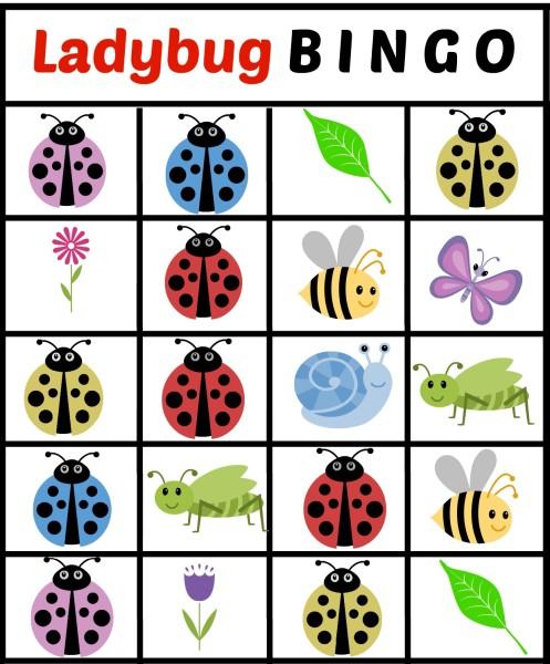 Ladybug Bingo Card 3 - jenny at dapperhouse Free Printables
