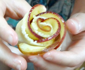 Apple Rose Flower Pastries Dessert by The Thrifty Couple