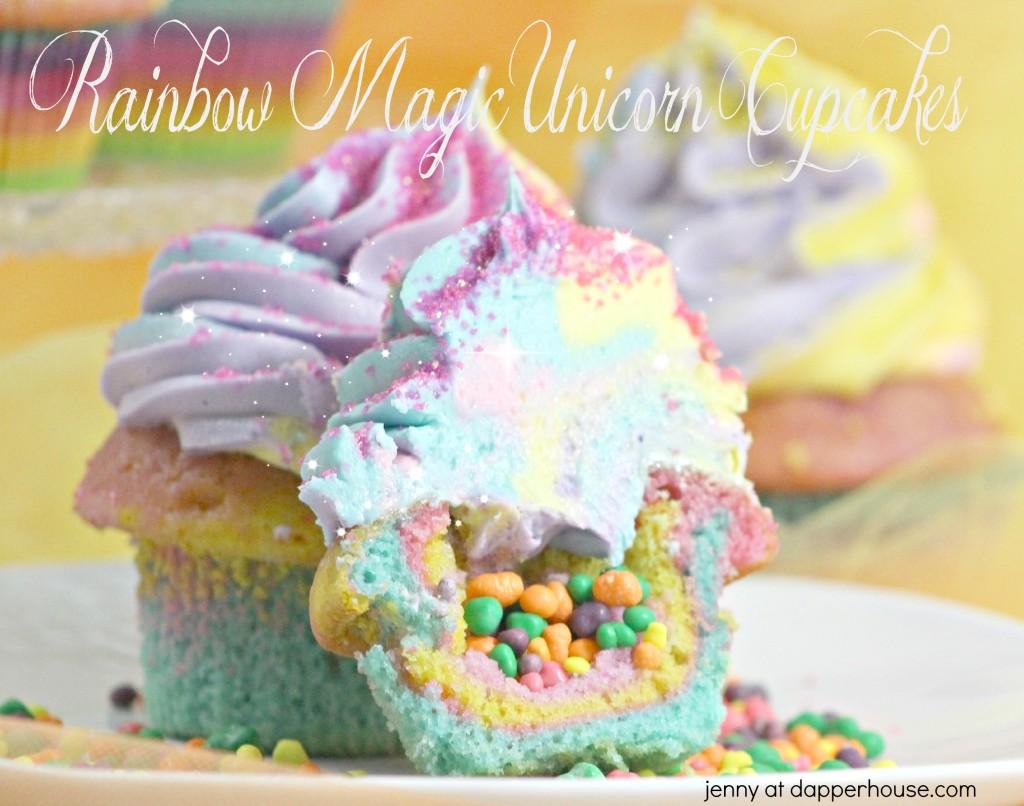Rainbow Magic Unicorn Cupcakes recipe - jenny at dapperhouse #partyfood
