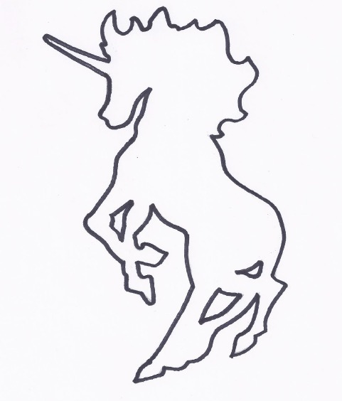 unicorn stencil for DIY Art Project