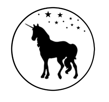 unicorn with stars