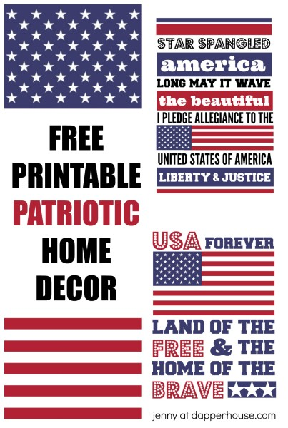 Patriotic Home Decorations | Free Printables Patriotic Home Decor Art To Print And Frame
