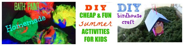 FUN CHEAP AND EASY DIY Crafts and activities to do with the kids this summer - jenny at dapperhouse