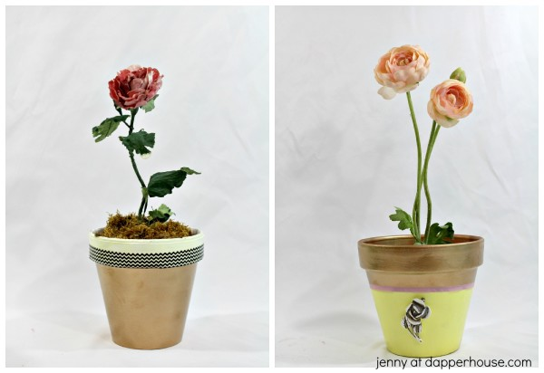 How to DIY our own glamorous pots for flowers - jenny at dapperhouse