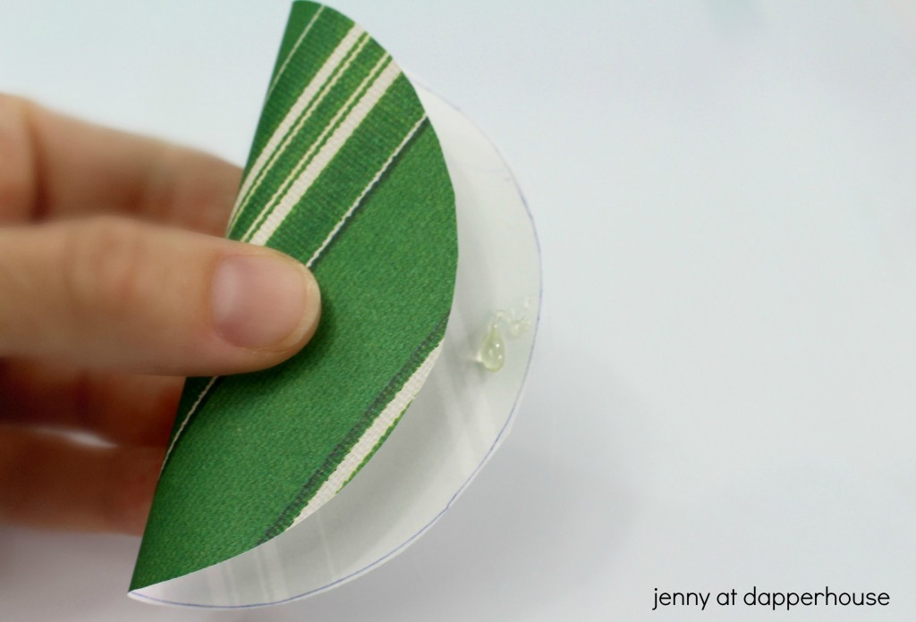 fold the paper in half and secure with a dab of glue paper fotune cookie craft - jenny at dapperhouse