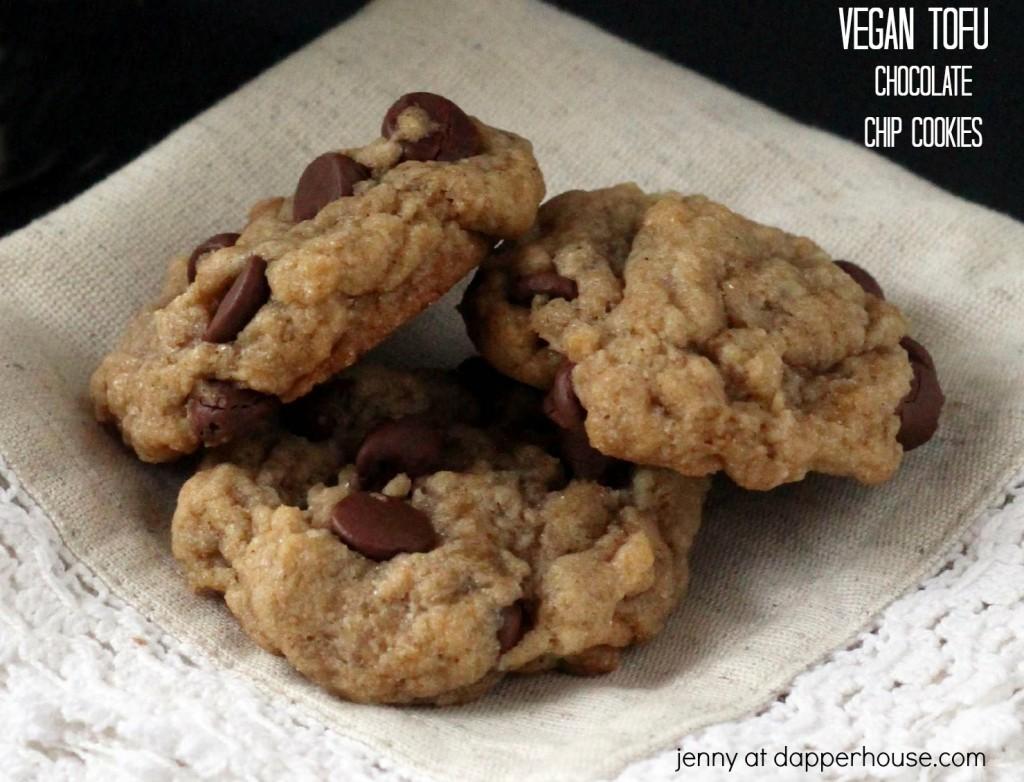 vegan tofu chocolate chip cookie recipe - jenny at dapperhouse