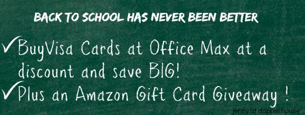 Back to School Giveaways and Deals at office Max and Jenny at dapperhouse #OMaxVisa15 #ad