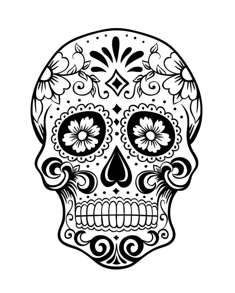 coloring pages sugar skulls - day of the dead sugar skull coloring pages coloring pages