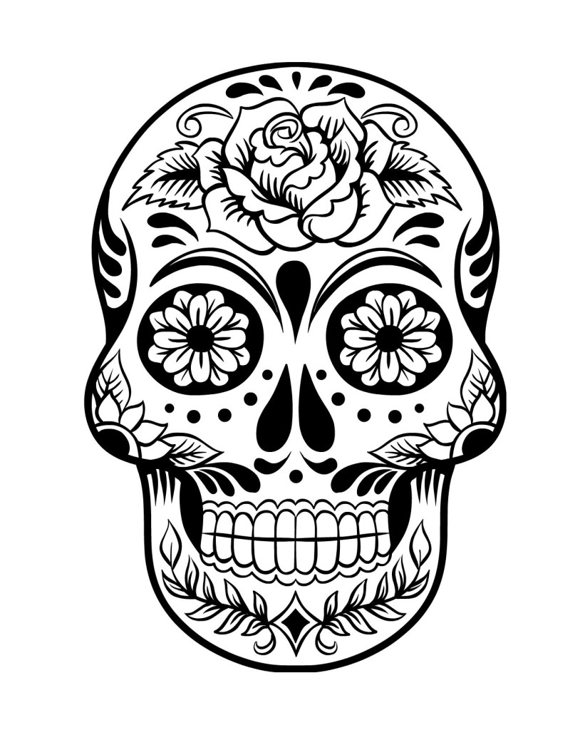 Catrina Day Of The Dead Coloring Page Coloring Pages Day Of The Dead Skull Coloring Pages
