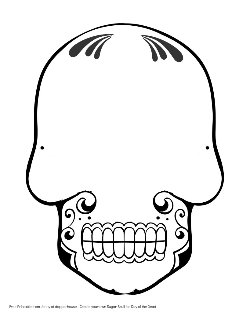 Free Printable Create a Sugar Skull for Day of the Dead ...