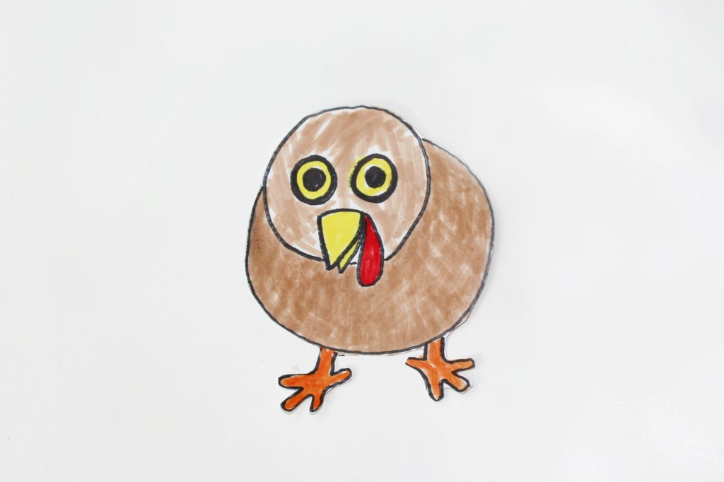 let your child color and cut out the turkey