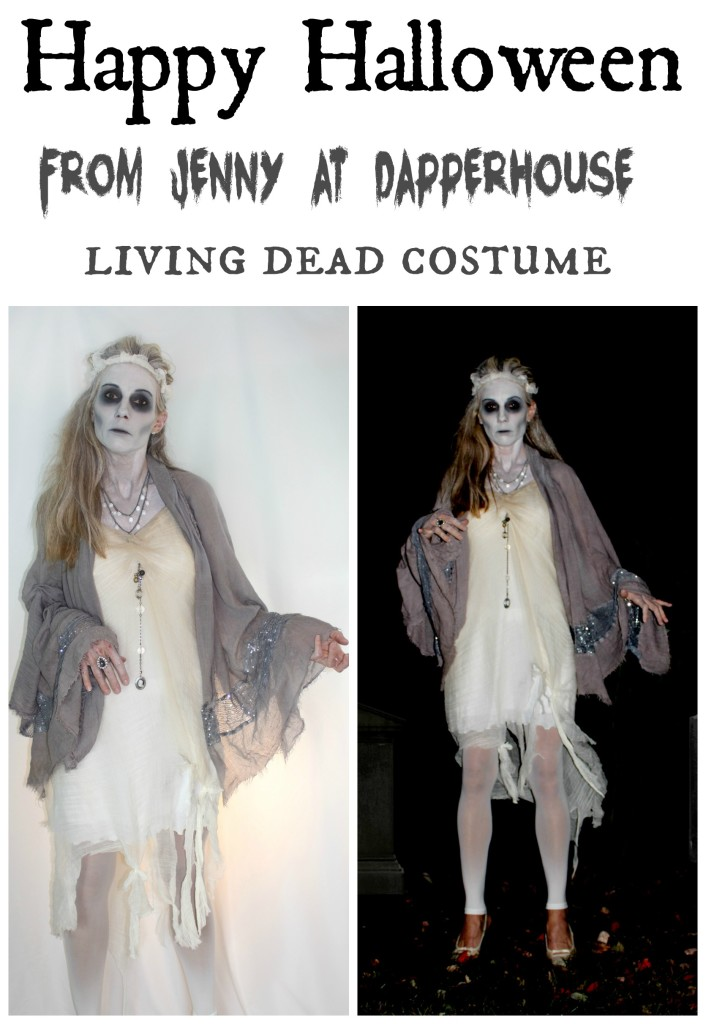 Happy Halloween from Jenny at dapperhouse living dead ghost skull haunting costume