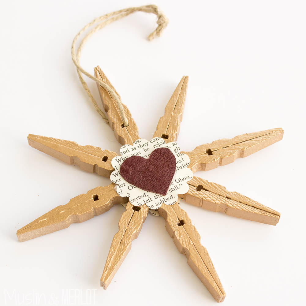 Clothespin Star Ornaments!-2