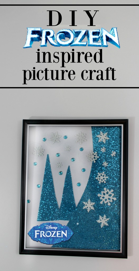 DIY FROZEN inspired picture craft artwork easy - jenny at dapperhouse
