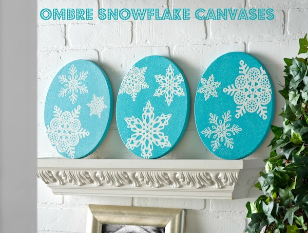 Easy-ombre-snowflake-canvases