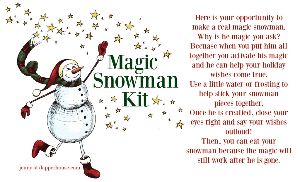 Magic Snowman Kit Free Printable #AD jenny at dapperhouse