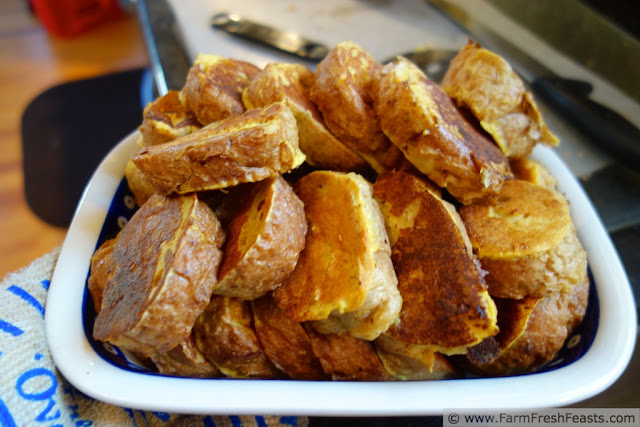 Roasted Pumpkin and Eggnog French Toast