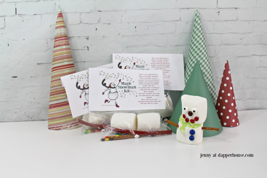 jenny at dapperrhouse make a magic snowman kit