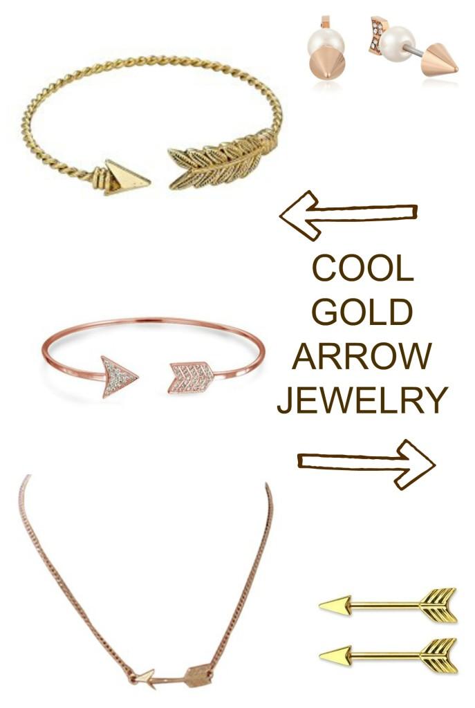Cool Gold Arrow Jewelry - jenny at dapperhouse
