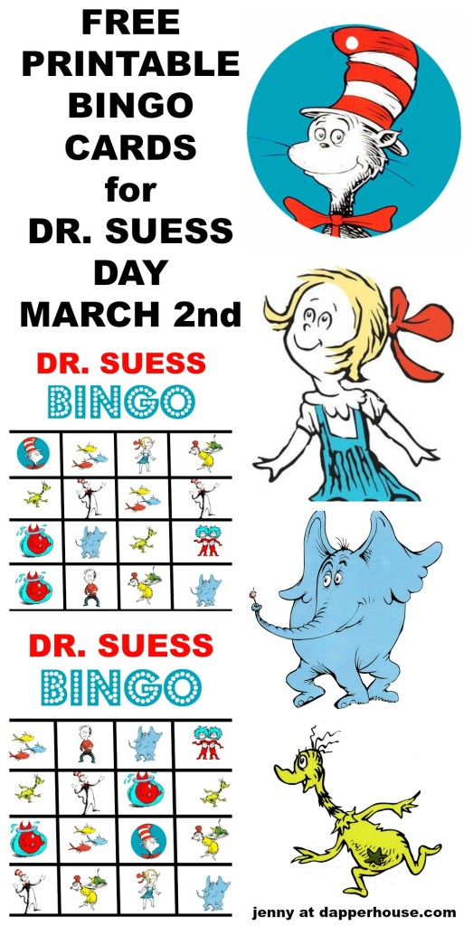 FREE PRINTABLE DR. SUESS BINGO CARD GAME - jenny at dapperhouse