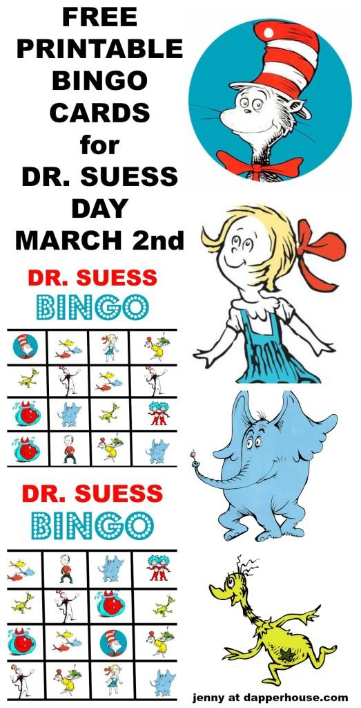 Happy Birthday Dr Suess And Free Printable Bingo Game