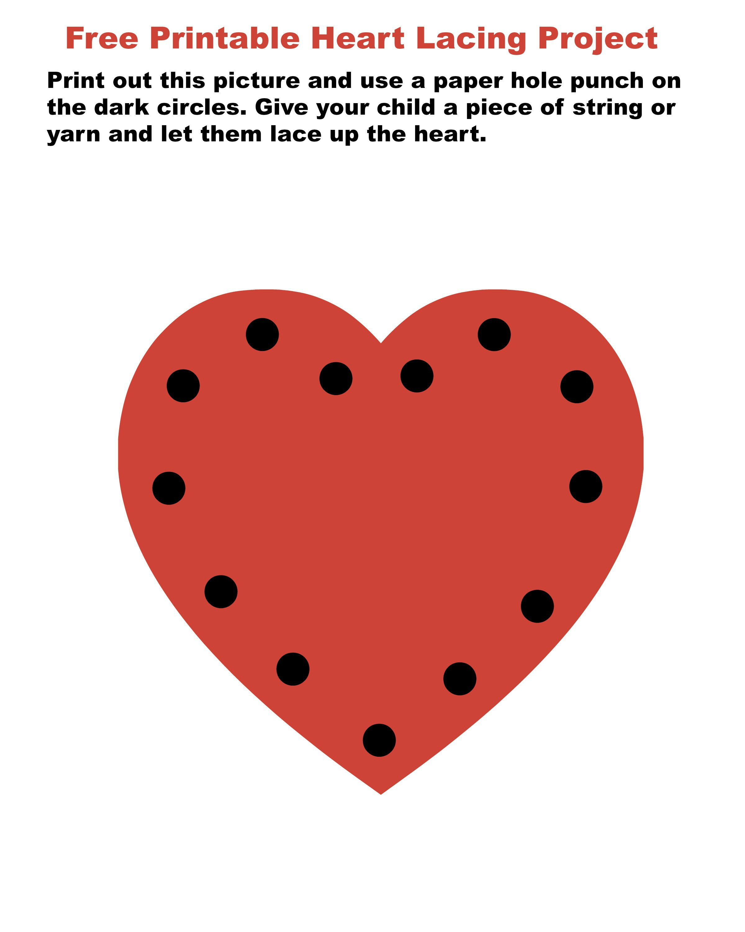 Free Printable Heart Lacing Card for Kids - jenny at dapperhouse