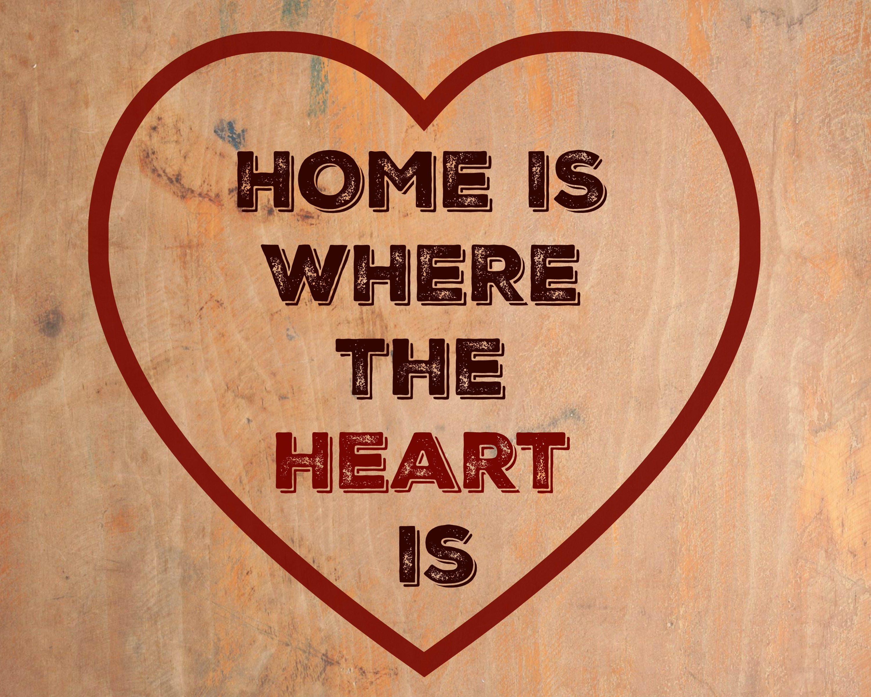 Free Printable Home is Where the Heart Is - jenny at dapperhouse