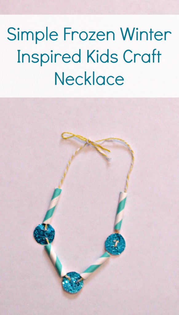 Simple Frozen Winter Inspired Kids Craft Necklace - jenny at dapperhouse