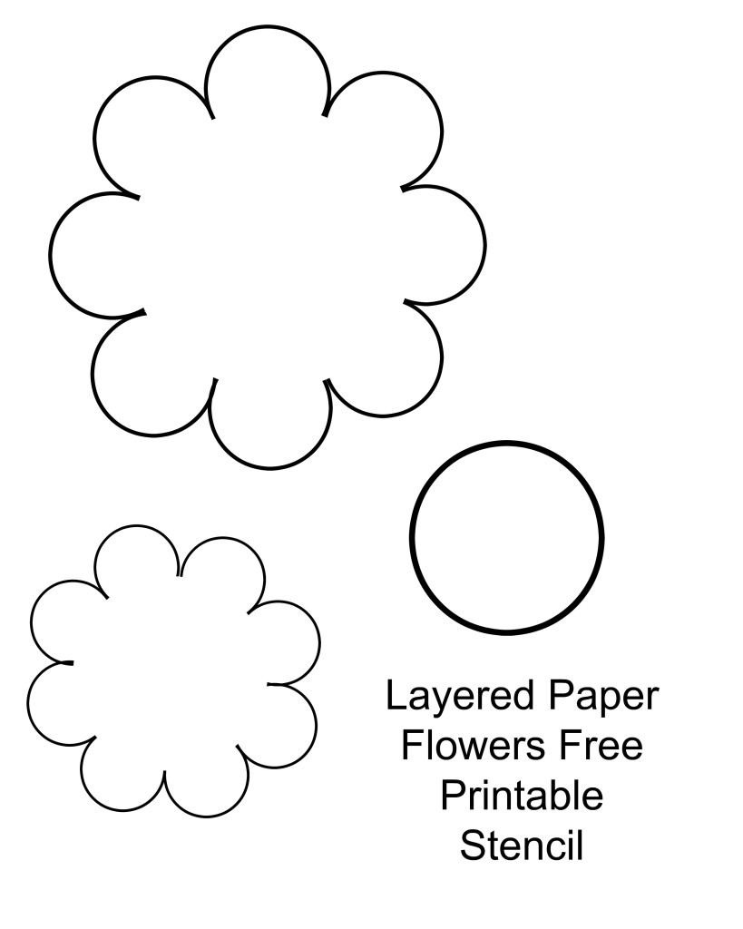 Diy paper flower craft and decor with free printable stencil mightylinksfo