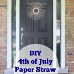 DIY 4th of July Paper Straw Wreath Craft