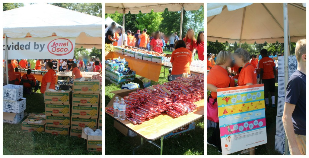 Jewel Osco sponsored food and water at the Kidney Walk in Chicago - jenny at dapperhouse