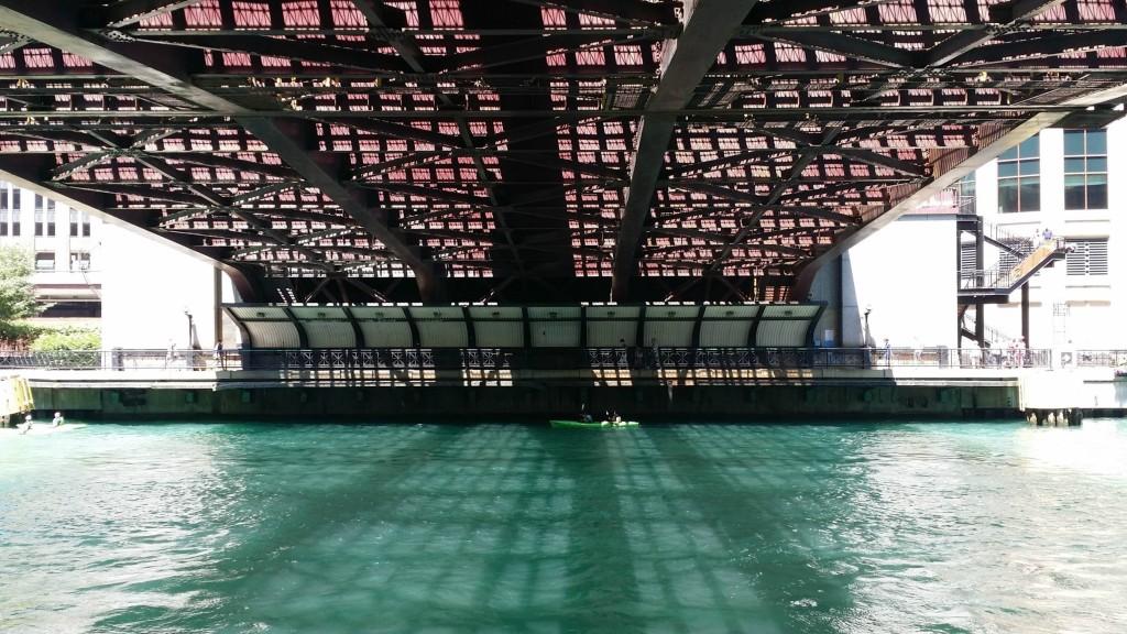 Chicago River Walk bridge - jenny at dapperhouse